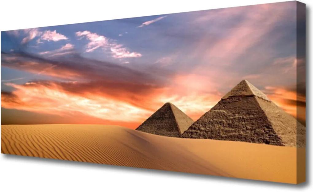 Obraz na plátně púšť Pyramídy