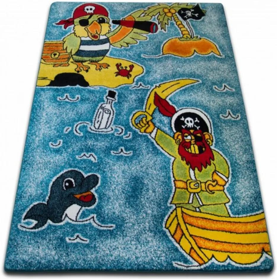 Detský kusový koberec Pirát modrý, Velikosti 280x370cm