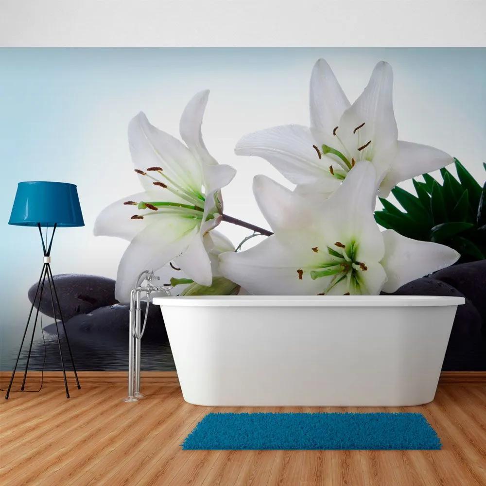 Fototapeta - Pure, white lilies 200x154