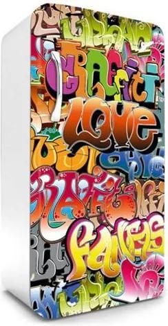 Samolepiace tapety na chladničku, rozmer 120 cm x 65 cm, graffiti, DIMEX FR-120-015