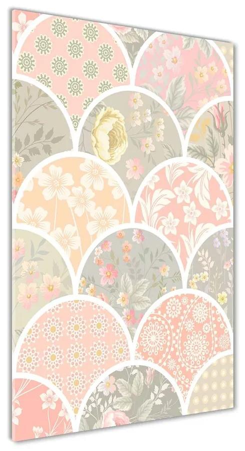 Foto obraz akryl do obývačky Kvetinový vzor pl-oa-70x140-f-91690336