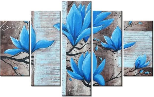 Tlačený obraz Nádherná modrá magnólia 100x63cm 3437A_5D