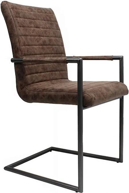 Hnedá stoličky / kreslo Industrial - 48*97 cm