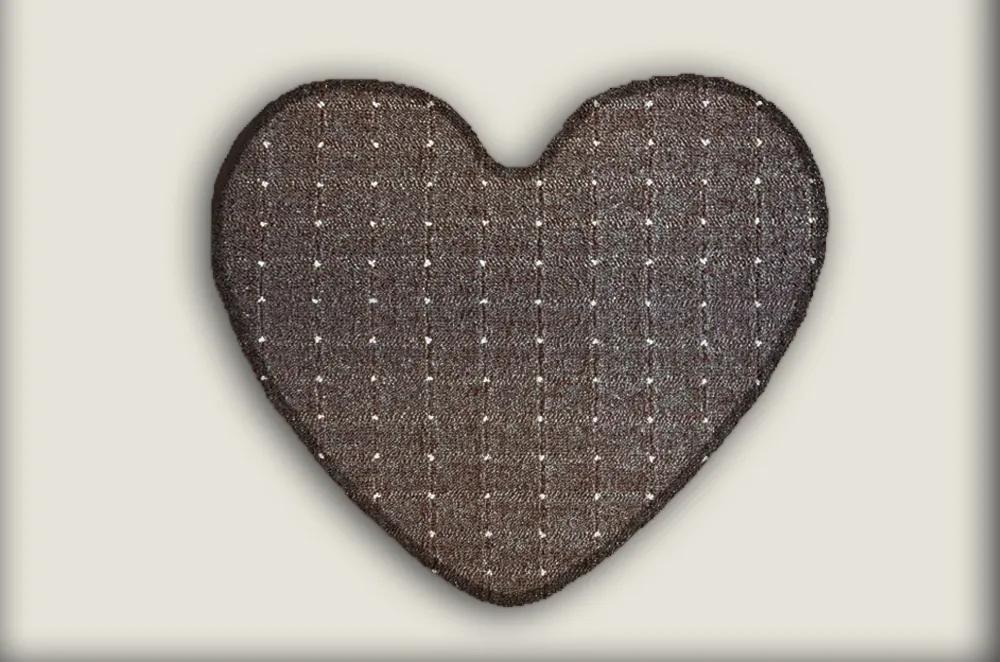 Vopi koberce AKCE: 100x120 - srdce cm Kusový koberec Udinese hnědý srdce - 100x120 - srdce cm