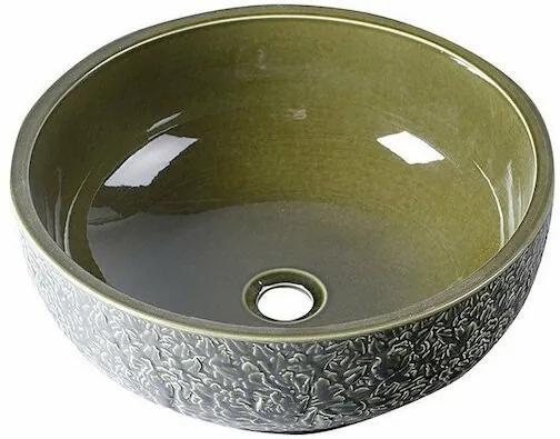 PRIORI ker.um.,průměr 43cm,oliv zelená PI016