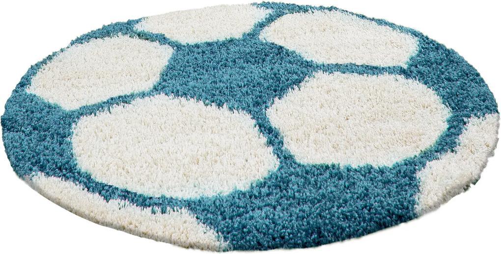 Ayyildiz koberce Kusový koberec Fun 6001 turkis - 100x100 (průměr) kruh cm