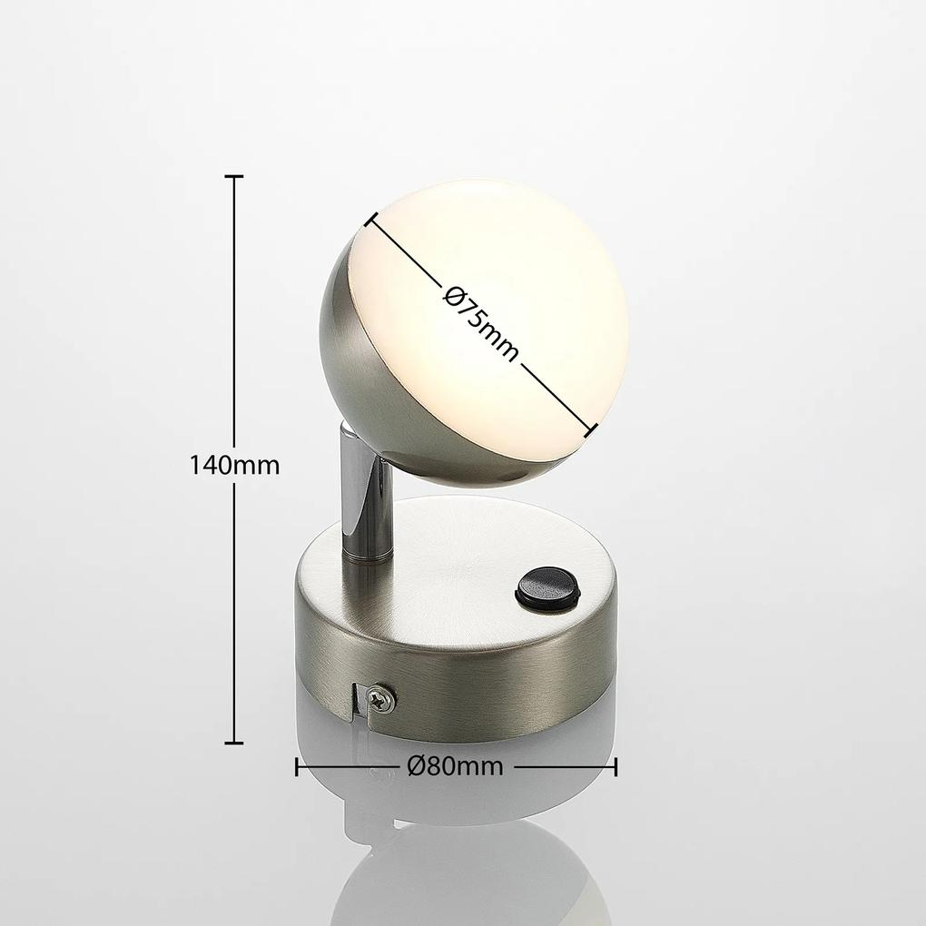 Lindby Lientje nástenné LED svietidlo z ocele