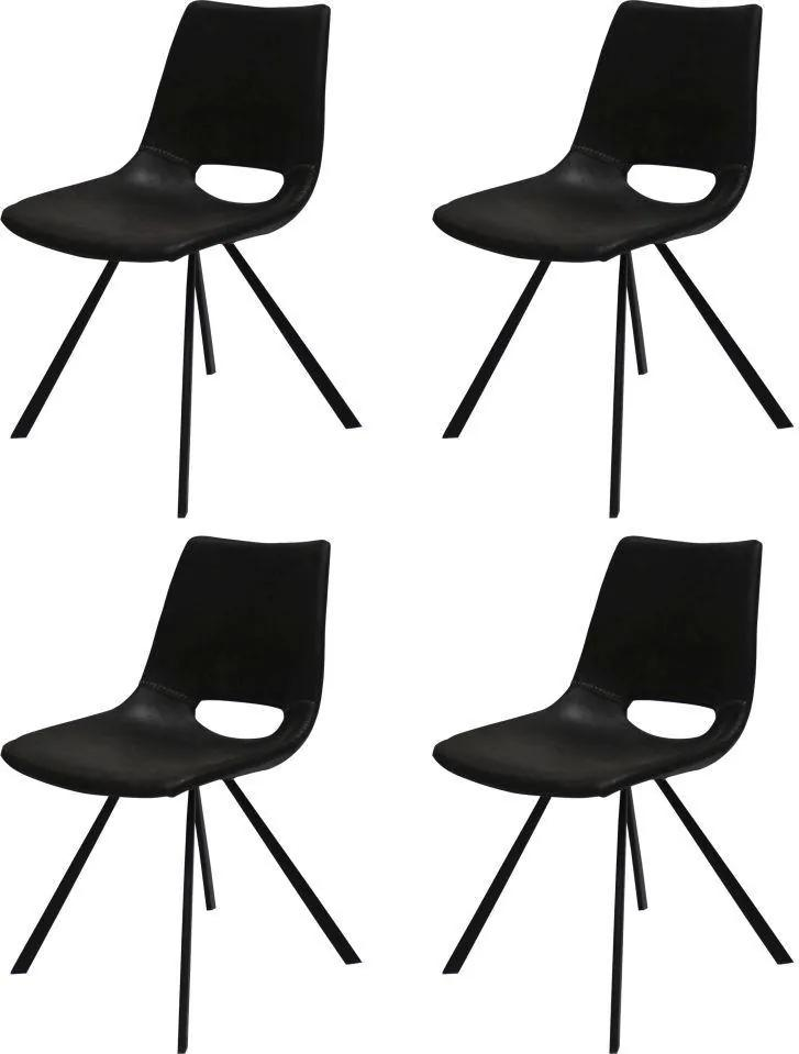 Dizajnová stolička Izabella / čierna