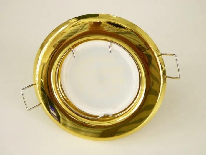 T-LED LED bodové svetlo do sadrokartónu 3W zlatá 230V Farba svetla: Denná biela