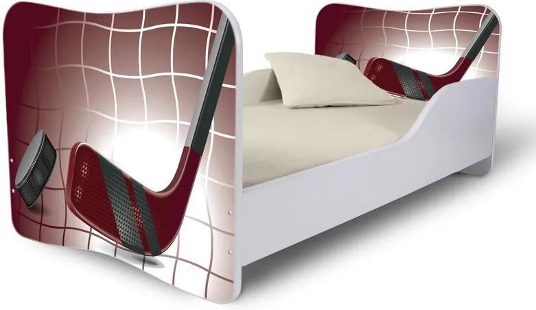 MAXMAX Detská posteľ HOKEJKA + matrac ZADARMO 180x80 pre chlapca NIE