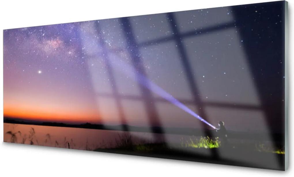 Skleněný obraz Hvězdy noc mlěčná dráha