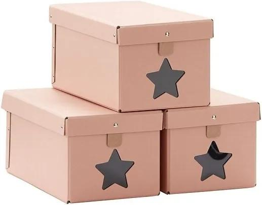 lovel.sk Dizajnové úložné boxy na topánky Neo 3ks - marhuľové