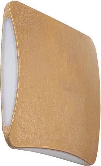 Rábalux 7999 LED Vonkajšie Nástenné Svietidlá pozlatený opál LED 7W