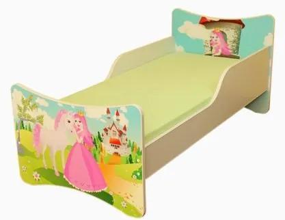 MAXMAX Detská posteľ 200x80 cm - PRINCEZNA 200x80 pre dievča NIE
