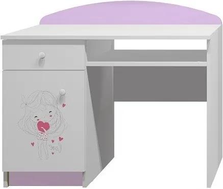 MAXMAX Písací stôl Zamilovaní DIEVČA - TYP A pre dievča