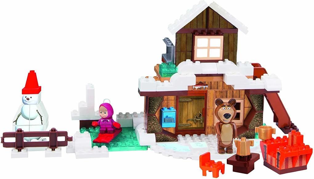 BIG PlayBIG Bloxx Máša a medveď Mišov zimný dom