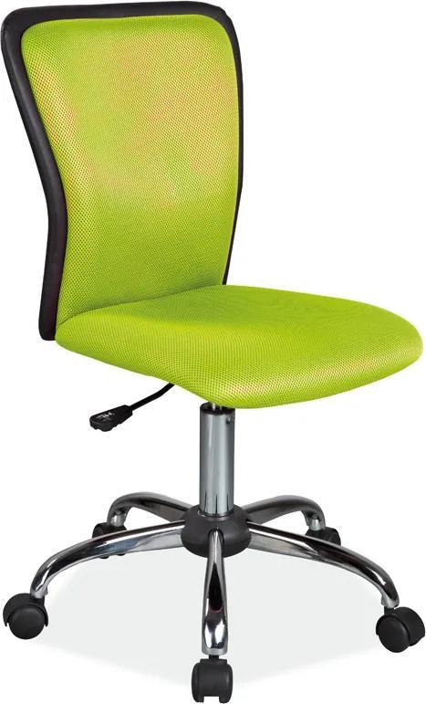 SIGNAL Q-099 detská stolička na kolieskach zelená