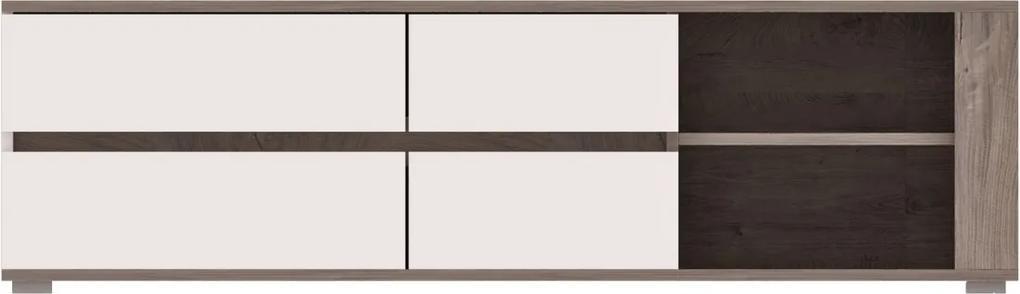 RENAR Ares AS2 tv stolík dub enderein / biely lesk