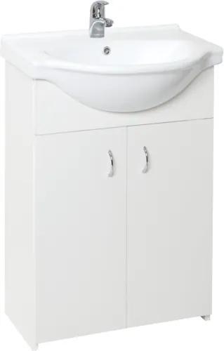 Kúpeľňová skrinka s umývadlom Multi Simple 55,5x42,4 cm biela SIMPLE55WH