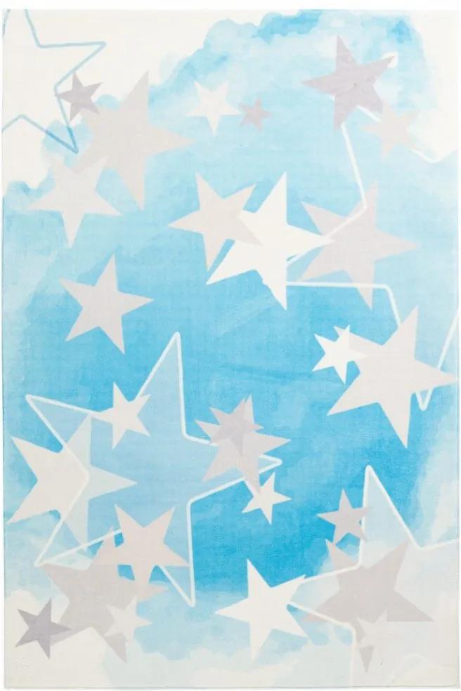 Obsession koberce Dětský kusový koberec Stars 410 blue - 120x170 cm