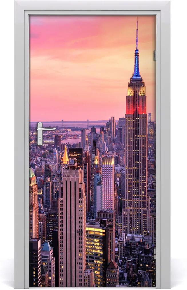 Fototapeta samolepící na dveře New york zachód