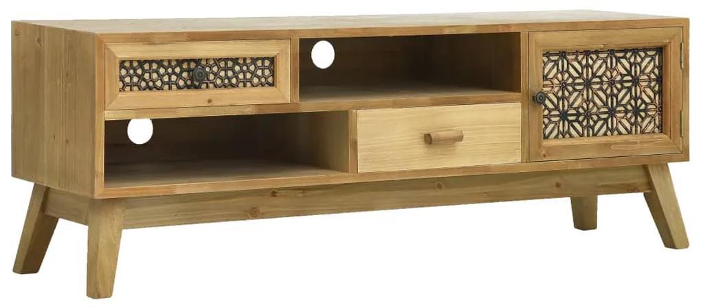vidaXL TV skrinka vyrezávaná hnedá 120x30x42 cm drevo