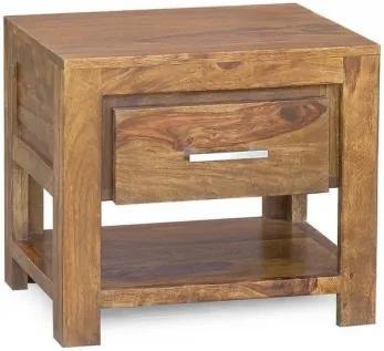 Masiv24 - DAKOTA Nočný stolík 50x40 cm, palisander
