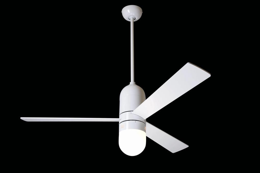 """MODERN FAN EU CIRRUS CIR-GW36ALNL 36"""" lesklá biela/hliník Reverzný stropný ventilátor"""