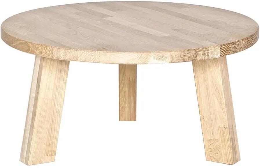 Konferenčný stolík z dubového dreva De Eekhoorn Rhonda, Ø 50cm