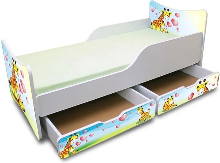MAXMAX Detská posteľ so zásuvkou 180x80 cm - žirafkou 180x80 pre všetkých ÁNO