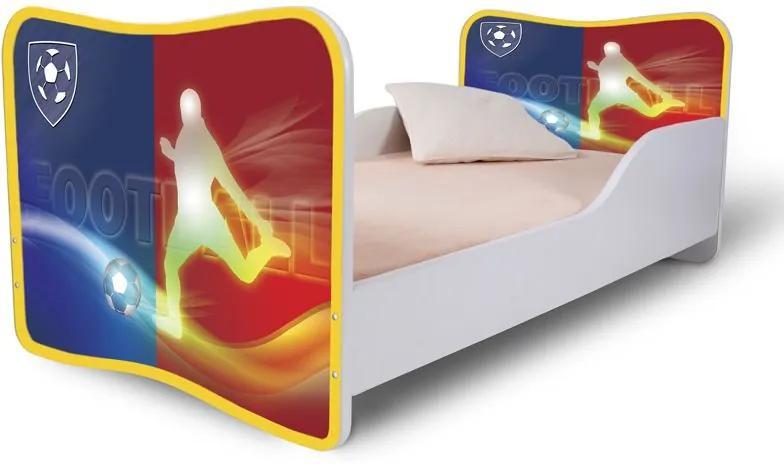 MAXMAX Detská posteľ FOOTBALL + matrac ZADARMO 180x80 pre chlapca NIE