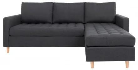 Rohová pohovka FIRENZE 219 cm polyester, tmavě šedý House Nordic 1301501