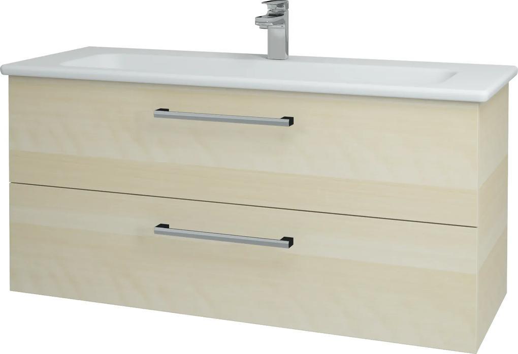 Dřevojas - Koupelnová skříň GIO SZZ2 120 - D02 Bříza / Úchytka T03 / D02 Bříza (130046C)