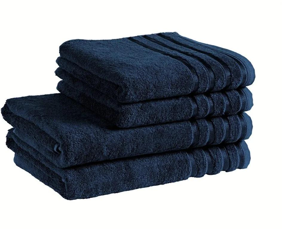 Škodák Uterák / osuška z bambusového vlákna Pásiky - tmavo modrá - Malý uterák 30 x 50 cm
