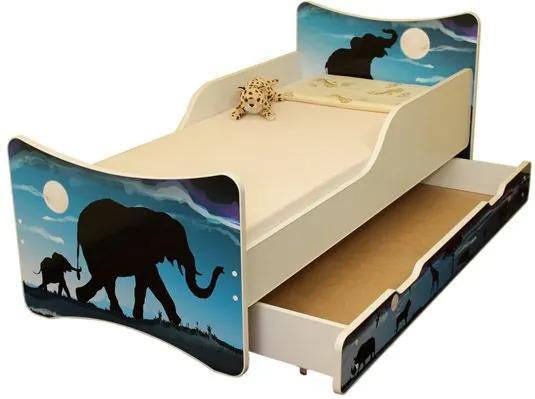 MAXMAX Detská posteľ so zásuvkou 160x90 cm - AFRIKA 160x90 pre všetkých ÁNO