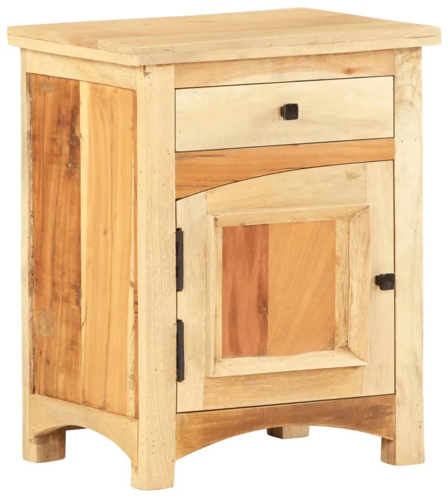vidaXL Nočný stolík 40x30x50 cm masívne recyklované drevo