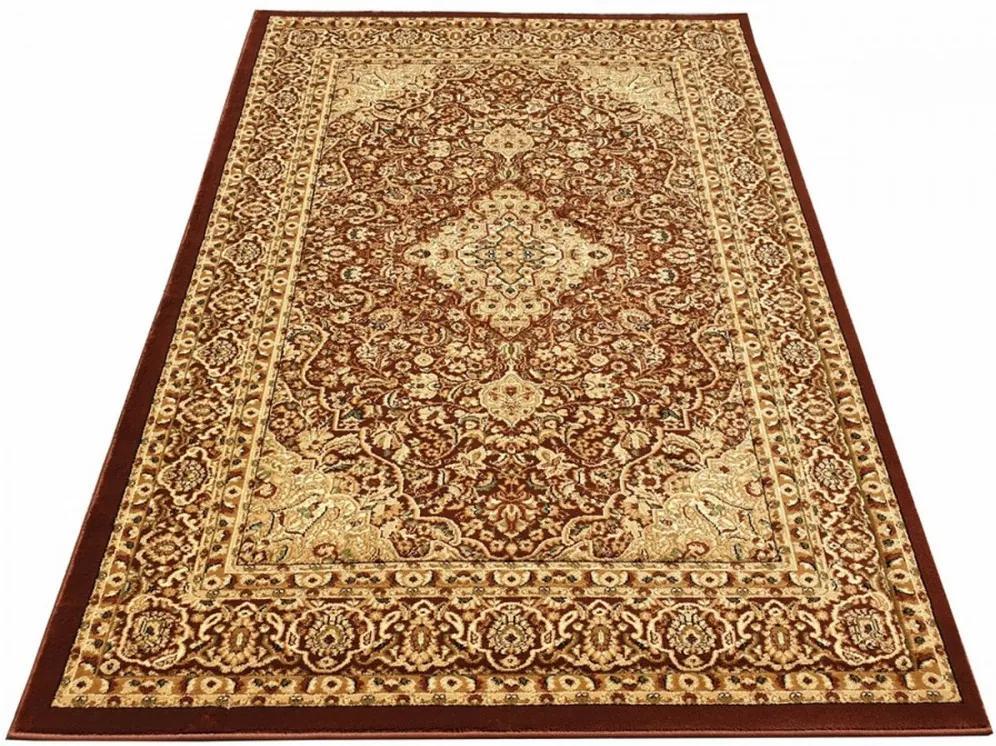 Kusový koberec klasický vzor 6 hnedý F, Velikosti 70x140cm