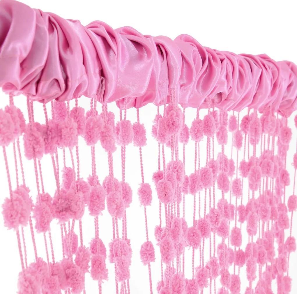 MAXMAX Detská záclona - ružová