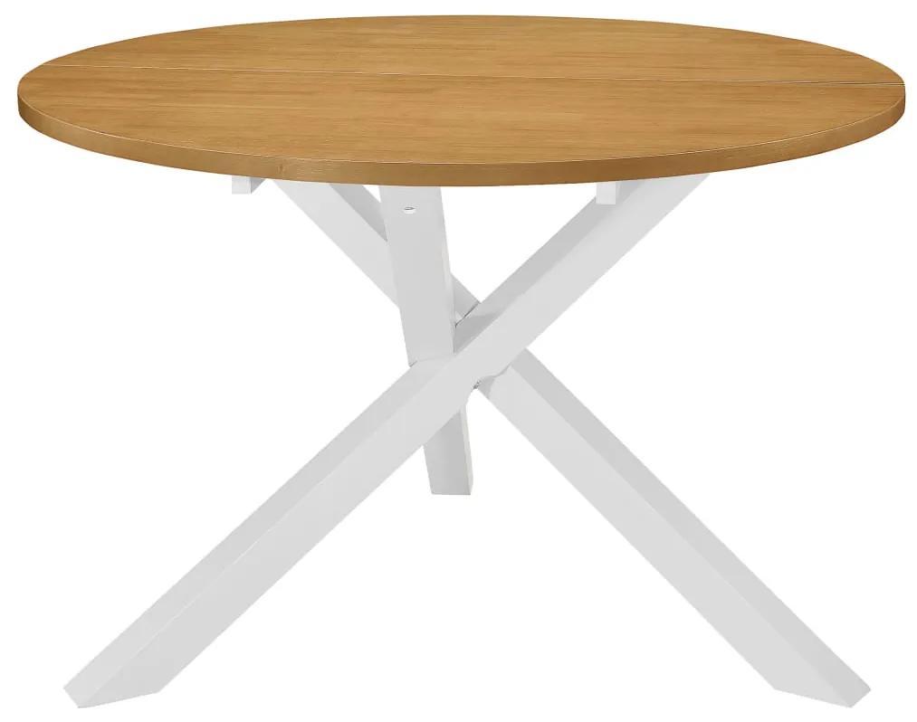 vidaXL Jedálenský stôl, biely 120x75 cm, MDF