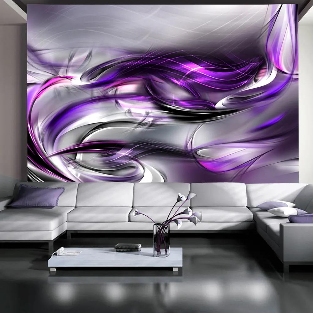Fototapeta Bimago - Purple Swirls + lepidlo zadarmo 400x280 cm