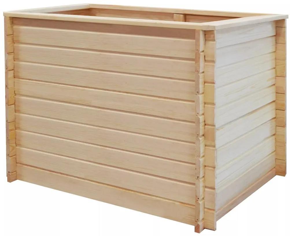 vidaXL Záhradný kvetináč 100x100x80 cm, FSC borovicové drevo 19 mm