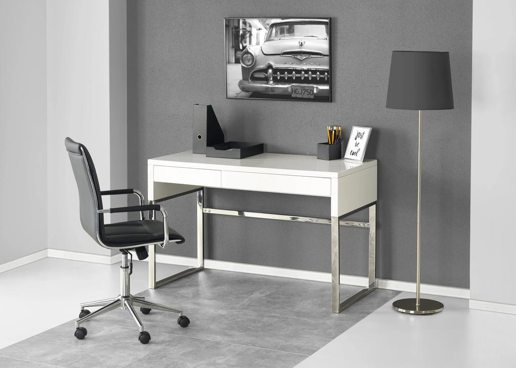 Luxusné PC stôl HAL-32, biely
