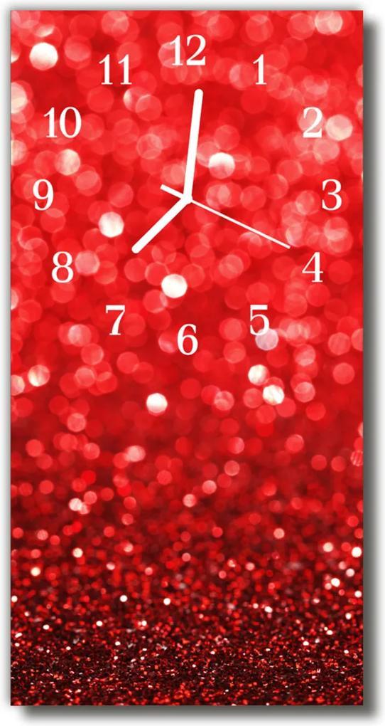 Skleněné hodiny vertikální Červený účet