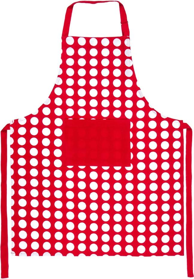 4Home Zástera Červená bodka, 70 x 90 cm