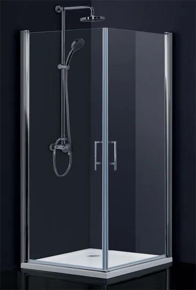 HOPA - sintra bez vaničky, chrom, sklo frost, 95 × výška 195 cm, levé provedení (BCMADE295CFL)