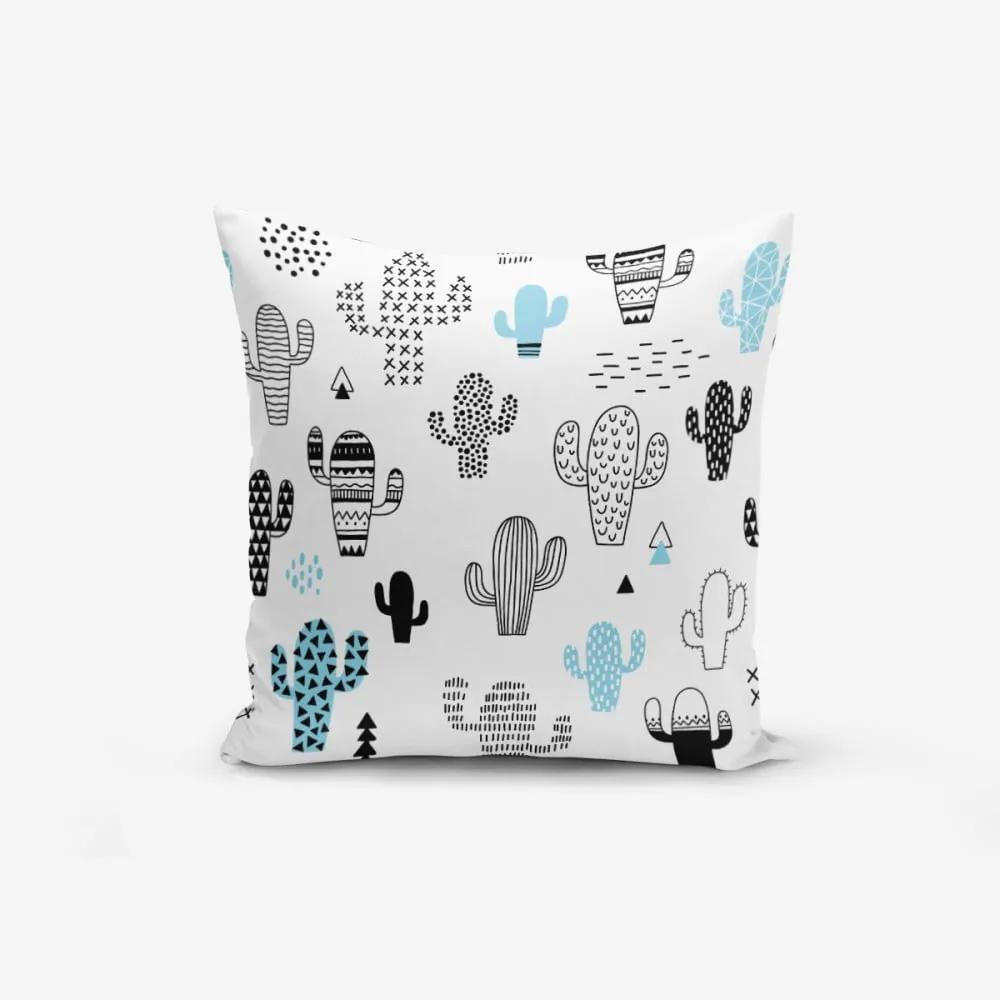 Obliečka na vankúš s prímesou bavlny Minimalist Cushion Covers With Points Col Bitkisi, 45 × 45 cm