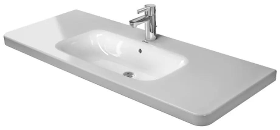 Duravit DuraStyle - Umývadlo do nábytku, 1 otvor pre armatúru prepichnutý, 120x48 cm, biele 2320120000