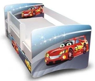 MAXMAX Detská posteľ 160x70 cm so zásuvkou - automobiliek II 160x70 pre chlapca ÁNO
