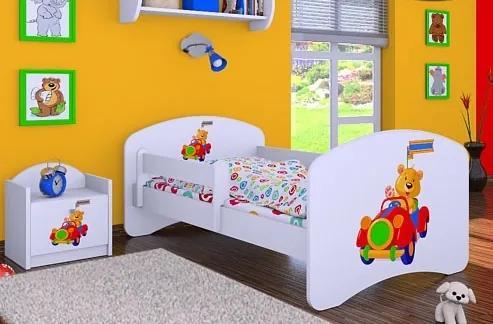 MAXMAX Detská posteľ bez šuplíku 160x80cm MACKO V AUTE 160x80 pre dievča|pre chlapca|pre všetkých NIE