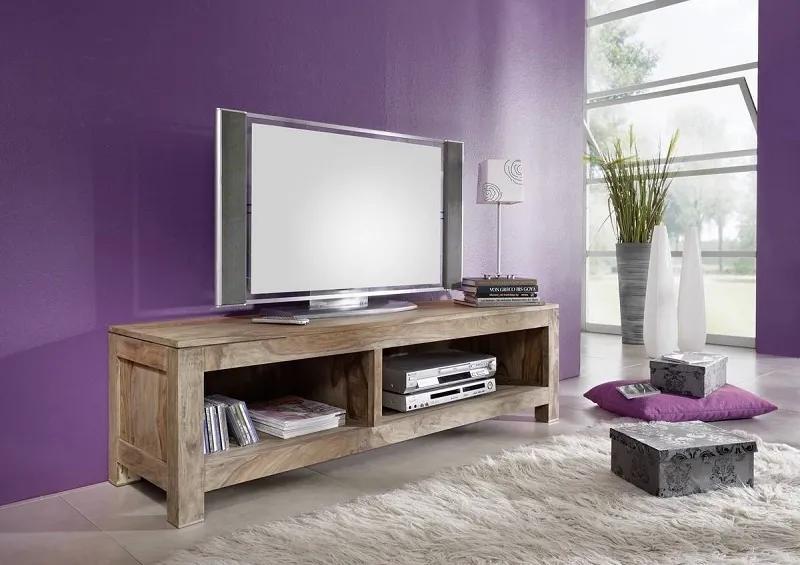 Masiv24 - GREY WOOD TV stolík 148x45 cm, palisander